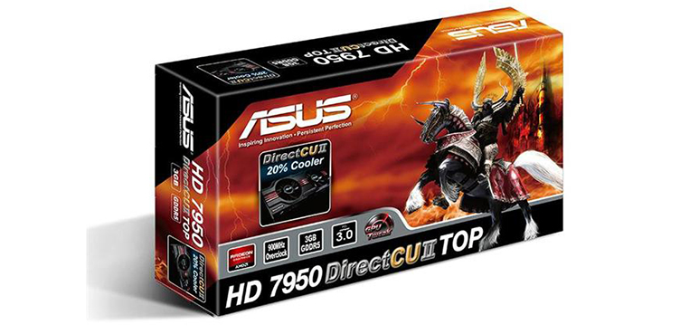 Asus HD 7950 DirectCUII Top