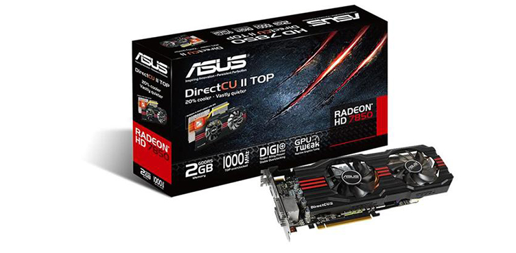 Asus HD 7850 DirectCUII Top