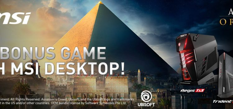 MSI, Assasin's Creed Origins Hediye Ediyor