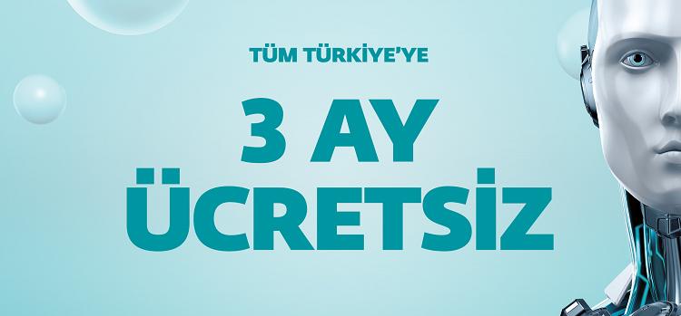 ESET'ten Tüm Türkiye'ye 3 Aylık Ücretsiz Güvenlik Yazılımı!